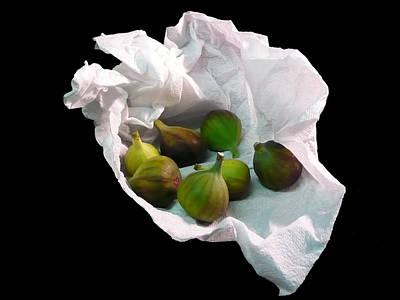 Photograph - Figs In A Napkin by Richard Ortolano