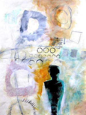 Abstracted Painting - Figure 1 by Jane Davies