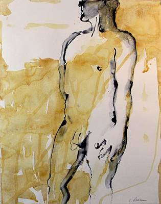 Figure 12 Male Nude Study Art Print by Craig  Bruce