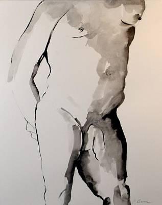 Figure 7 Male Nude Art Print by Craig  Bruce