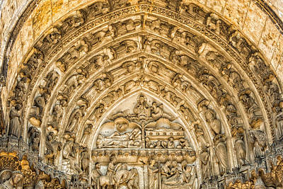 Gothic Archivolt At Chartres Art Print