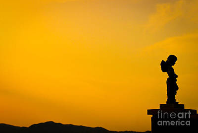 Photograph - Figure At Dusk by David Warrington