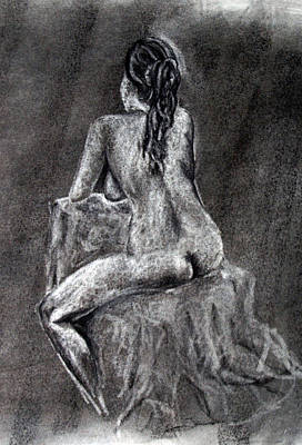 Drawing - Figure Drawing 2 by Corina Bishop