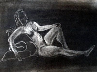 Figure Drawing Art Print by Corina Bishop