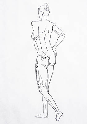 Figure Drawing Drawing - Figure Drawing Study I  by Irina Sztukowski