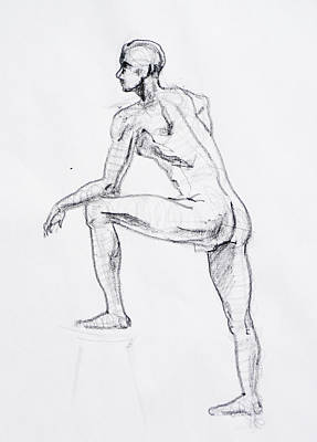 Nudes Royalty-Free and Rights-Managed Images - Figure Drawing Study II by Irina Sztukowski