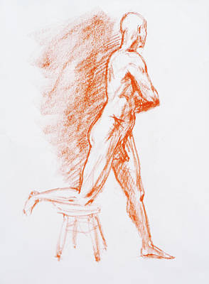 Nudes Royalty-Free and Rights-Managed Images - Figure Drawing Study III by Irina Sztukowski