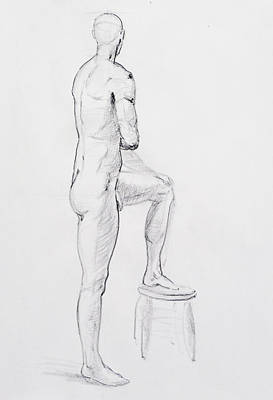 Nudes Royalty-Free and Rights-Managed Images - Figure Drawing Study IV by Irina Sztukowski