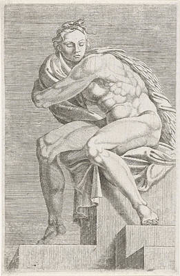 Figure From The Sistine Chapel, Attributed To Dirck Art Print