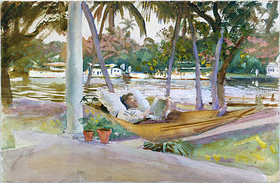 Painting - Figure In Hammock. Florida by John Singer Sargent