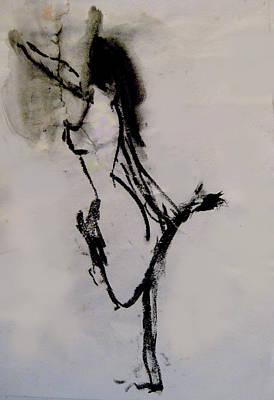 Figure In Motion Art Print