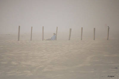 Photograph - Figure In The Fog - A Moment Earlier by Allen Sheffield