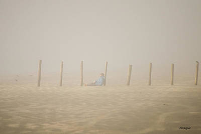 Photograph - Figure In The Fog by Allen Sheffield
