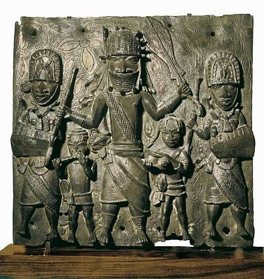 Figure Of Oba And Gods. Embossed Art Print by Everett