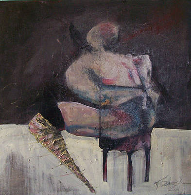 Painting - Figure Prone Before A Window Of Opportunity by Tyson Schroeder