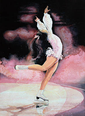 Sports Book Painting - Figure Skater 20 by Hanne Lore Koehler