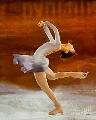 Figure Skating Art Print