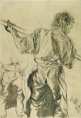 Adolf Drawing - Figure Studies Adolf Von Menzel, German by Litz Collection