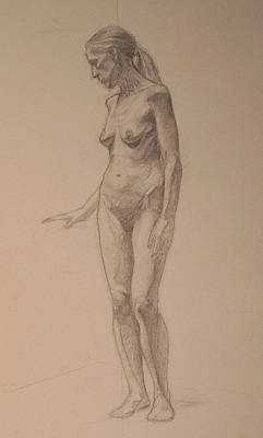 Drawing - Figure Study by Andrew Sandberg