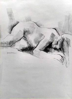 Drawing - Figure Study by Frank Daniell