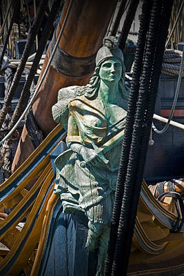 Windjammer Photograph - Figurehead On The Bow Of The Sailing Ship The Star Of India by Randall Nyhof