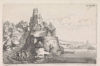 Figures At A Fort In A River Landscape, Jan Van De Velde II Art Print by Jan Van De Velde Ii