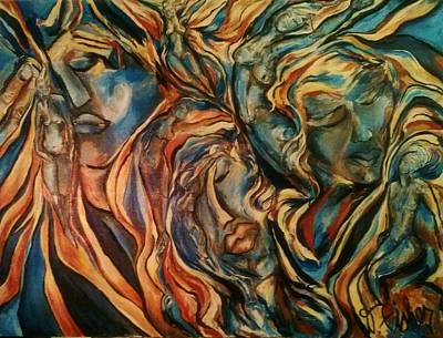 Painting - Figures Of  Beauty by Dawn Fisher