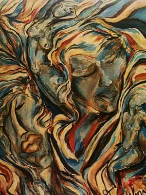 Art Print featuring the painting Figures2 by Dawn Fisher