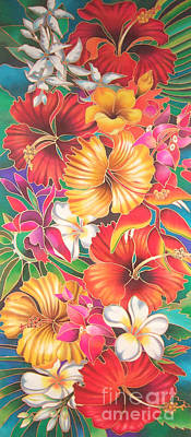 Painting - Fiji Flowers IIi by Maria Rova