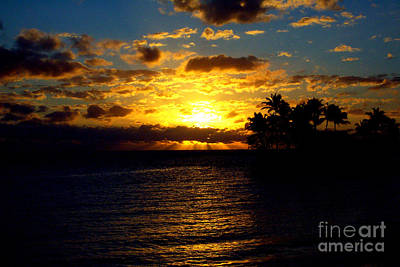 Photograph - Fiji Sunset by John Potts