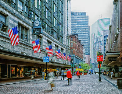 Business Beauties Photograph - Filene's Department Store - Boston by Mountain Dreams