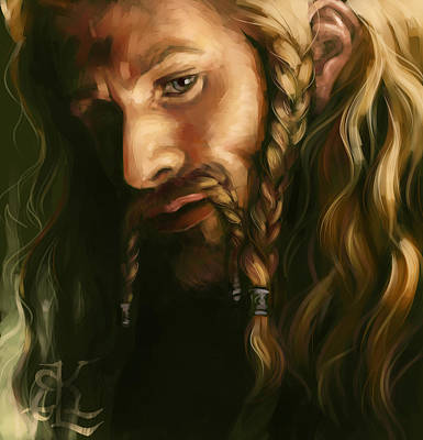 Tolkien Painting - Fili-green And Gold by Lydia Kinsey