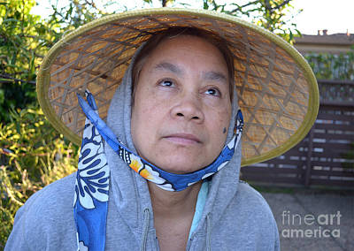 Filipino Photograph - Filipina Woman With A Mole On Her Cheek And Wearing A Conical Hat II by Jim Fitzpatrick