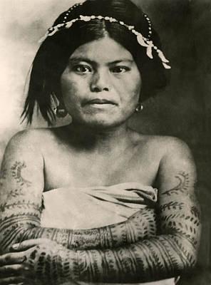 Tattoo Filipino Lady 1800's   Original