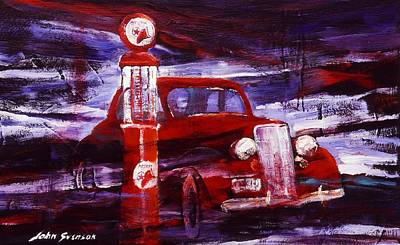 Painting - Fill Er Up 1935 by John  Svenson