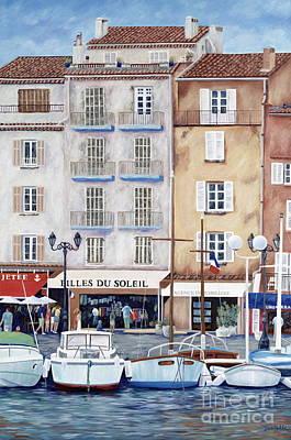 Tropez Painting - Filles Du Soleil  by Danielle  Perry