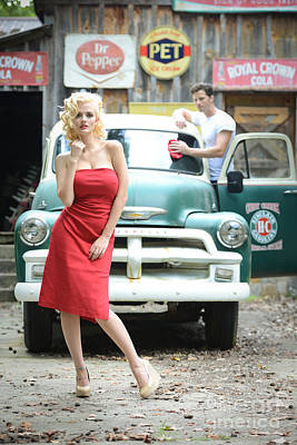 Marilyn Photograph - Filling Service Pinup by Jt PhotoDesign