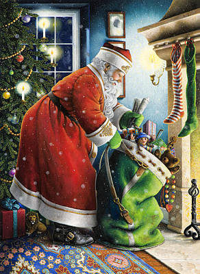 Painting - Filling The Stockings by Lynn Bywaters
