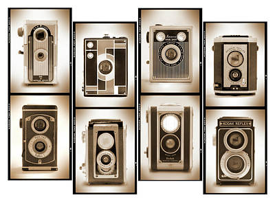 Vintage Camera Wall Art - Photograph - Film Camera Proofs 4 by Mike McGlothlen