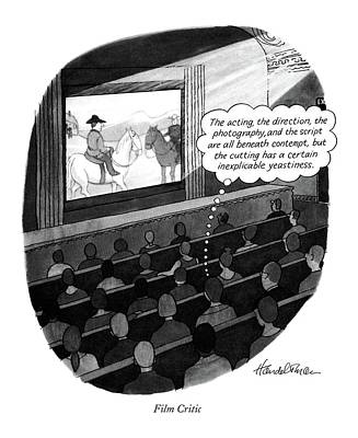 Film Critic Art Print by J.B. Handelsman