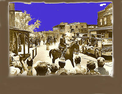 Film Homage Cameron Mitchell The High Chaparral Main Street Old Tucson Arizona Publicity  C.1968 Original