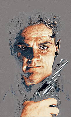 Film Homage Close-up James Cagney Angels With Dirty Faces 1939-2014 Art Print