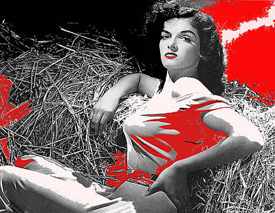 Edward Hopper - Film Homage Jane Russell The Outlaw 1943 publicity photo Photographer George Hurrell 2012 by David Lee Guss