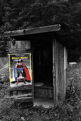 Scifi Portrait Collection - Film Homage Linda Carter Wonder Woman 2 Outhouse Near Marshall North Carolina 1977-2010 by David Lee Guss