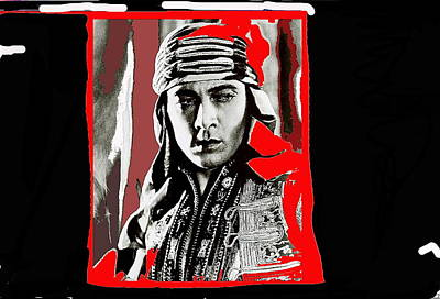 Film Homage Rudolph Valentino The Shiek 1921 Collage Color Added 2008 Original