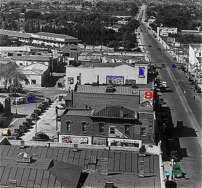 Film Homage Ted Degrazia Cine Plaza Theater  Blue W. Congress Tucson Arizona 1936-2008 Print by David Lee Guss
