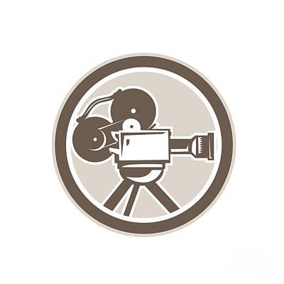 Digital Art - Film Movie Camera Vintage Circle Retro by Aloysius Patrimonio