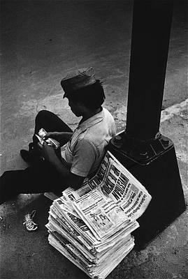 Richard Conte Photograph - Film Noir James Stewart Richard Conte Call Northside 777 1948 Paperboy Mexico City 1970  by David Lee Guss