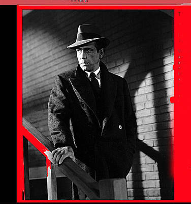 Clouds Royalty Free Images - Film noir john huston humphrey bogart the maltese falcon 1941 color added 2012 Royalty-Free Image by David Lee Guss