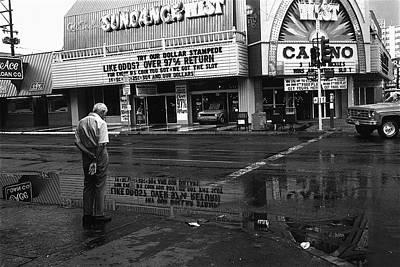 Richard Conte Photograph - Film Noir Jules Dassin Richard Conte Thieves' Highway Rain Sundance West Las Vegas Nevada 1977 by David Lee Guss